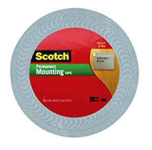 Scotch 1/2-Inch by 36-Yard Double-Sided Foam Tape,Off-White (4016)