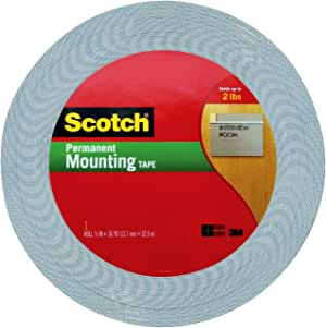 Scotch 1/2-Inch by 36-Yard Double-Sided Foam Tape, Off-White (4016)