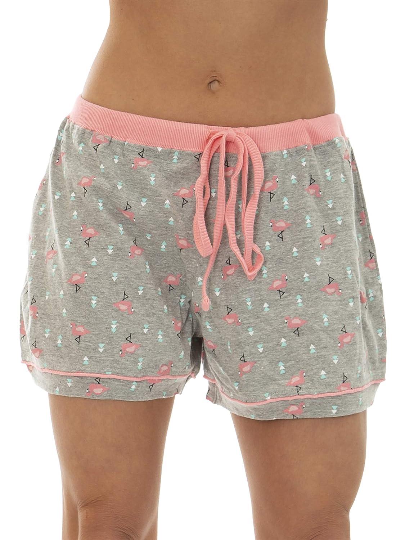 IZOD Womens Cotton Pajama Notch Collar Pajama Short Set
