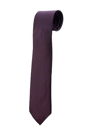 Corbata morada de lunares finos negros y blancos, diseño, disfraz ...