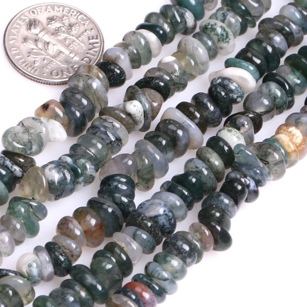 Natural Zoisite Green Rutilated Quartz Green Agate Gem Chip Stone Beads 5-8mm Gravel Freeform Gemstone Beads 140pcs For DIY Jewelry/&Decora