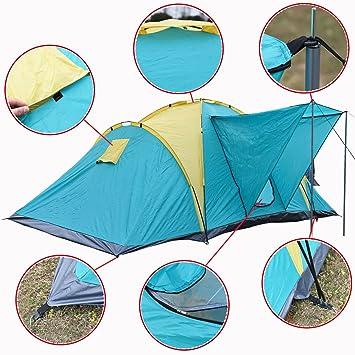 fa05a62bb57984 Grande Camping tente familiale 4-6 personnes 390cm imperméable en plastique  PE En plein air