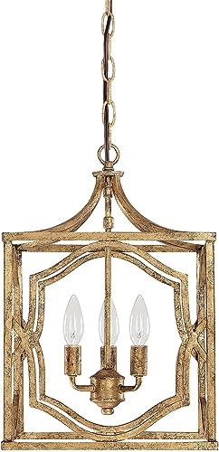 Capital Lighting 9481AG Blakely 3-Light Foyer Fixture, Antique Gold Finish