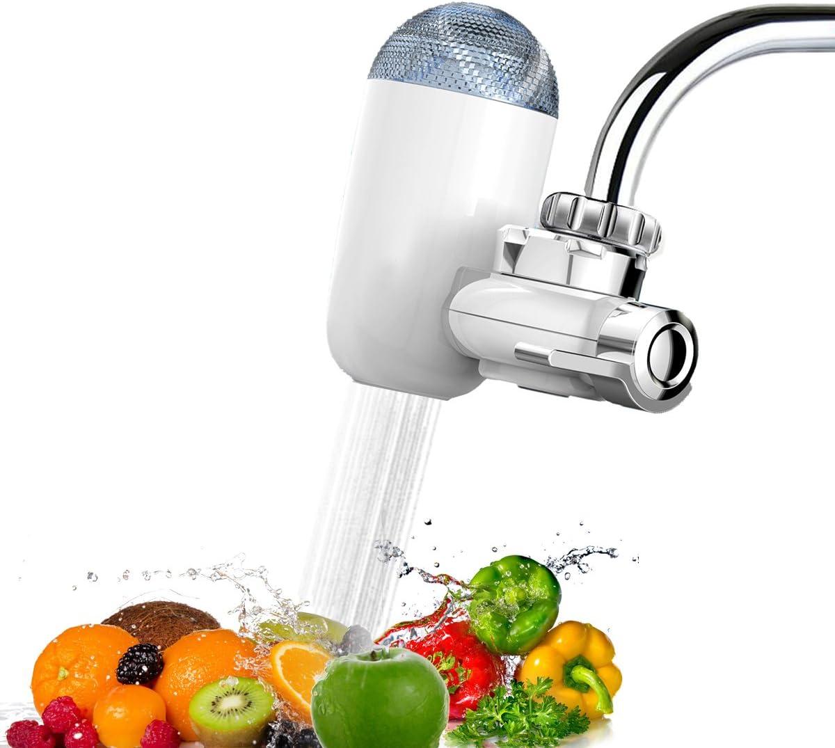 Filtro de agua para grifo, multicapa, filtro para grifo de cocina, purificador de agua con cartucho de filtro de cerámica: Amazon.es: Hogar