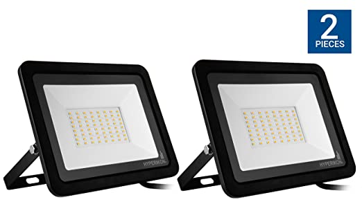 Hyperikon 50w led flood light with 180 rotatable bracket 5000k hyperikon 50w led flood light with 180 rotatable bracket 5000k 4000 lumens aloadofball Image collections