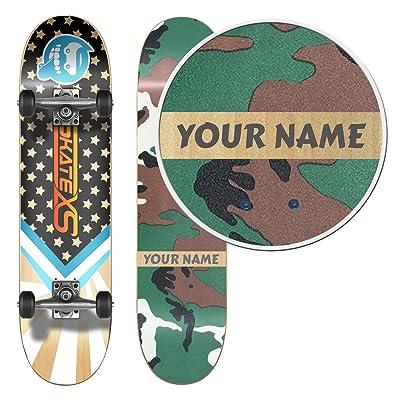 SkateXS Personalized Beginner Starboard Street Skateboard : Sports & Outdoors
