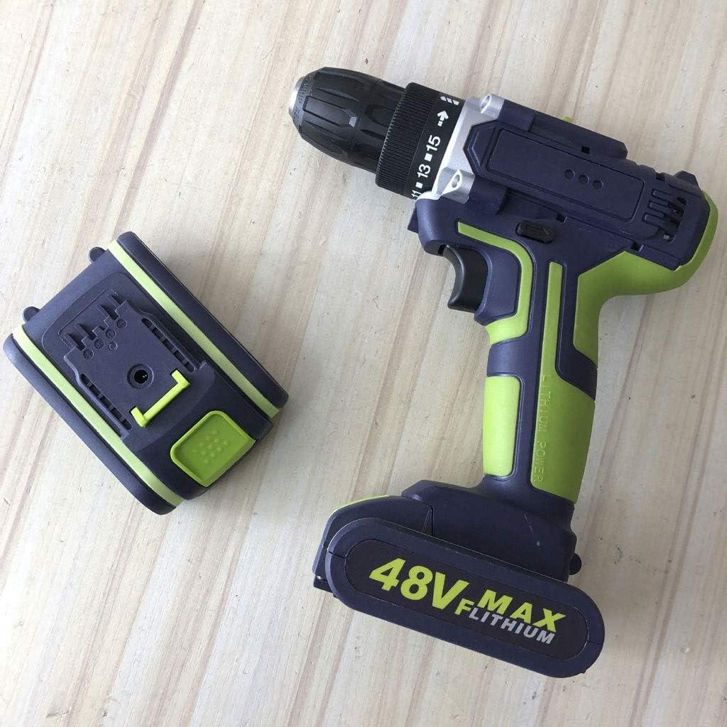 ZXUE Pistola de Impacto Mano Taladro eléctrico Taladro Drivers Taladros batería de Litio Recargable de Hardware del Sistema de Herramientas de perforación portátil caseros eléctricos (Color : Green)