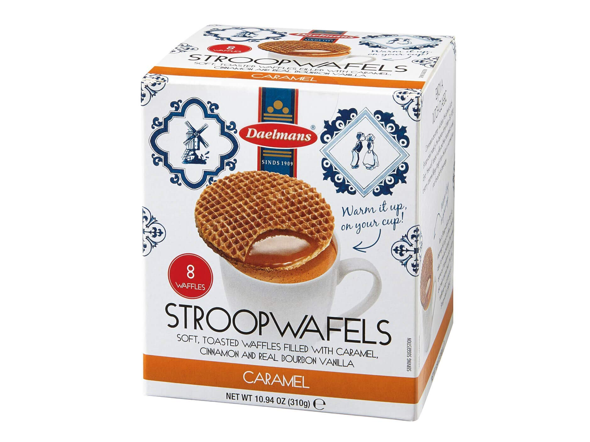 Daelmans Stroopwafel | Caramel Wafers | Syrup Stroopwaffles - 310 g per Cube Box - Dutch Caramel Cookie