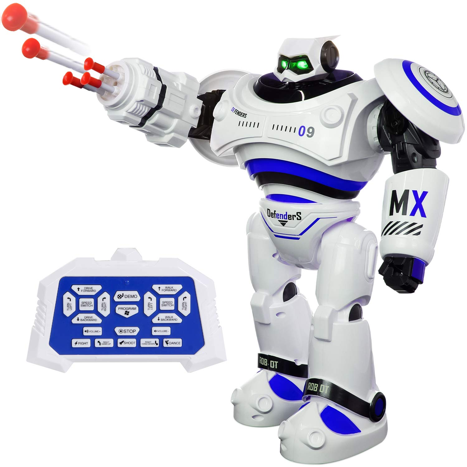SGILE Remote Control Robot, RC Programmable Educational Robot for Kids Birthday Gift Present, Interactive Walking Singing Dancing Smart Intelligent Robotics for Kids Boy, White