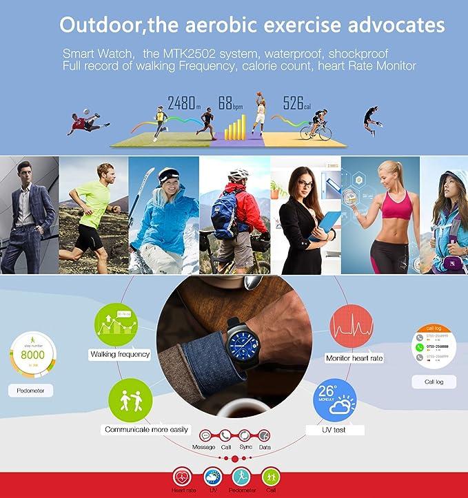 No. 1 G3 Bluetooth Smart Watch Reloj Deportivo Monitor de ...