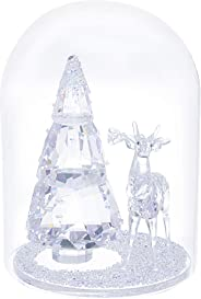 SWAROVSKI Bell Jar - Pine Tree & Stag Christmas Décor, Clear
