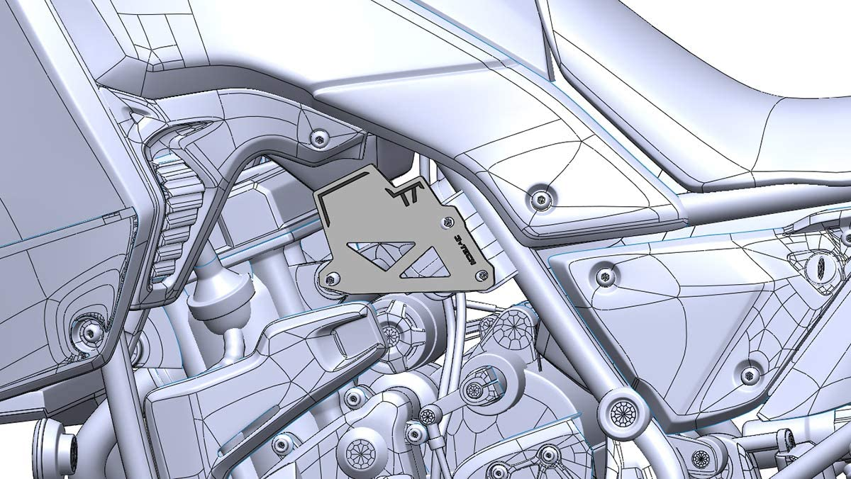 MyTech noir Maintien 700 Protection c/ôt/é gauche en aluminium anodis/é