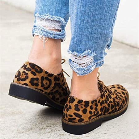 Amazon.com: AIMTOPPY Womens Flat Strap Round Toe Suede Print Casual Shoes: Computers & Accessories