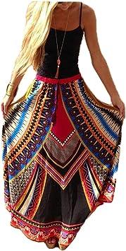 Hippolo Weinlese Thailand Art Rock Mode Hohe Taillen Frauen Boho Druckte Strand Lange Maxi Rocke Feiertags Kleidung Stil 1 Amazon De Bekleidung
