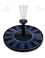Solar Powered Fountain Pump, FOME Solar Fountain Pump Brushless Bird Bath Fountain Solar Power Water Floating Pump Kit with Different Spray Heads for Pond Pool Garden Decoration from KSTRFFY