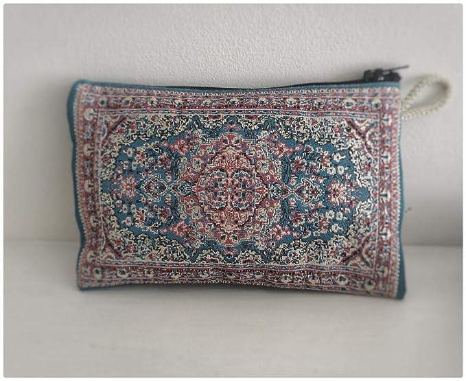 Monedero turco/mini bolsa de tocador - bordado étnico Kilim ...