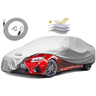 XCAR Breathable Dust Prevention Car Cover-Fits Sedan Hatchback Up to 200 Inch in Length: Automotive