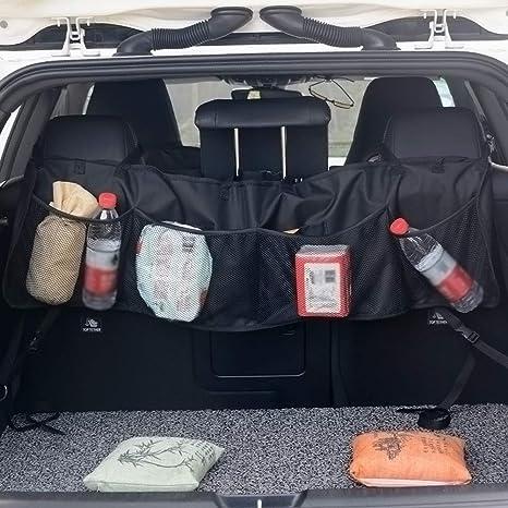 Vosarea Kofferraum Organizer Ausziehbar Faltbar Schwarz Auto