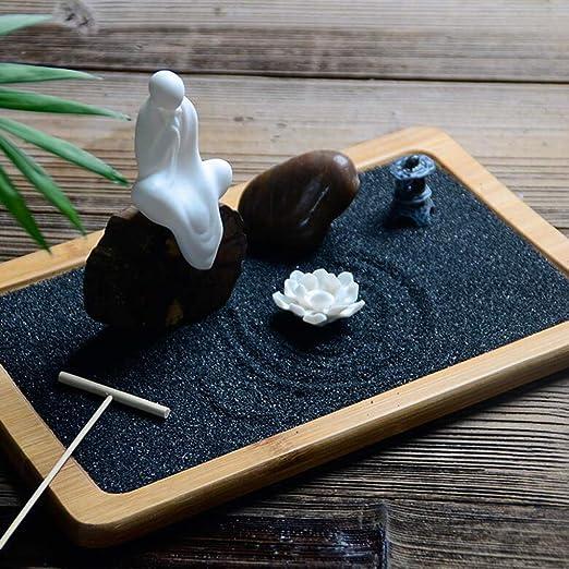 shixiaodan Jardin Zen Ornamento Pacífico Elaboradamente Estatua ...