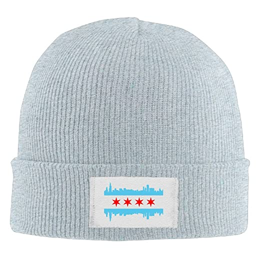 Winter Chicago City Flag Buildings Skyline Beanie Knit Hat at Amazon ... 5146a8208c