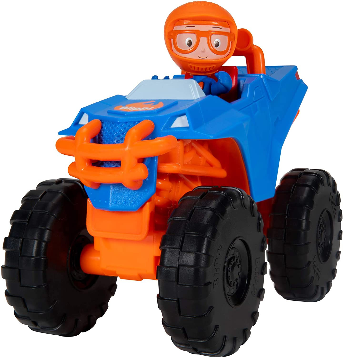 "Blippi Monster Truck Mobile - Mini Vehicle with Freewheeling Features Including 2"" Character Toy Figure and Cool Hydraulics - Imaginative Play for Toddlers and Young Children"