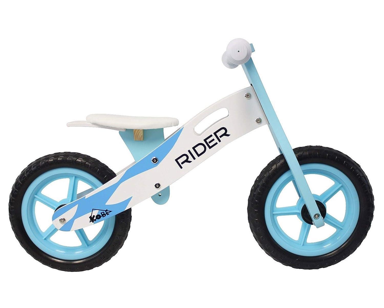 Kobe - Bicicleta de Equilibrio de Madera, Color Azul: Amazon.es ...