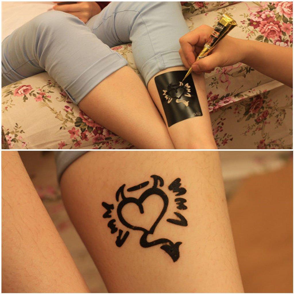 Tatuaje de henna entwirft tatuaje temporal/etiqueta Perfilómetro ...