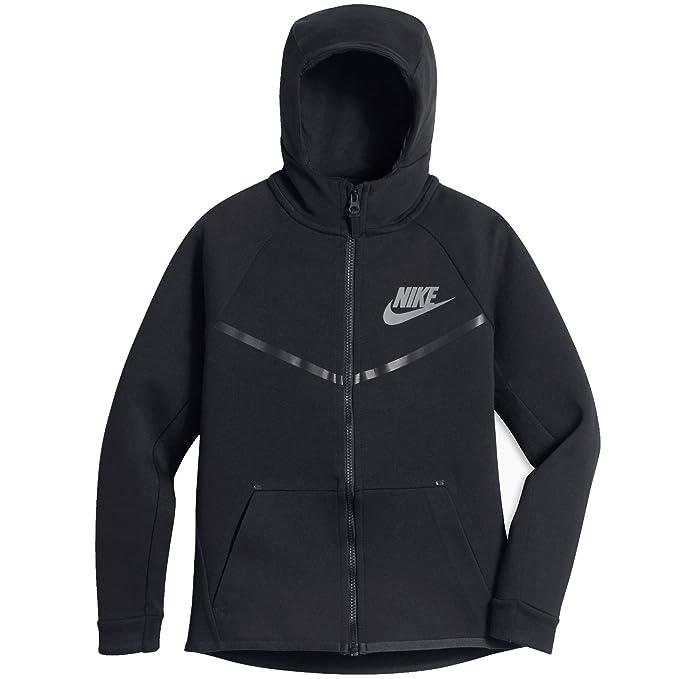 f2c7b3c16d02 Amazon.com  Nike Boys Sportswear Tech Fleece Windrunner Hoodie Black Black  Small  Clothing