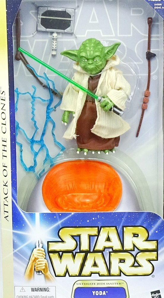 Ultimate Jedi Master Yoda with Chair 12  Inch passed, 15 cm Actionfigur - Star Wars Saga Collection 2003 von Hasbro