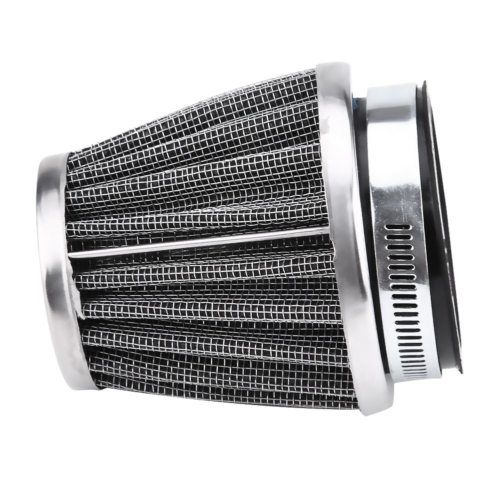 Filtro de admisi/ón de aire de la motocicleta Filtro de admisi/ón de aire de motocicleta universal Filtro de flujo de entrada de aire con entrada de motor de 42//48//50//60 mm 50MM