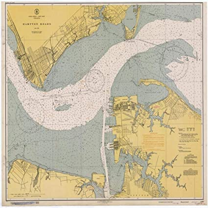 Amazoncom Vintography Reprinted 8 X 12 Nautical Map Of Hampton - Us-coast-and-geodetic-survey-maps