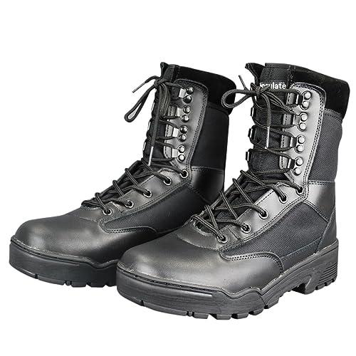 Mil-Tec - Zapatos de cordones para hombre negro negro, color negro, talla 41 EU