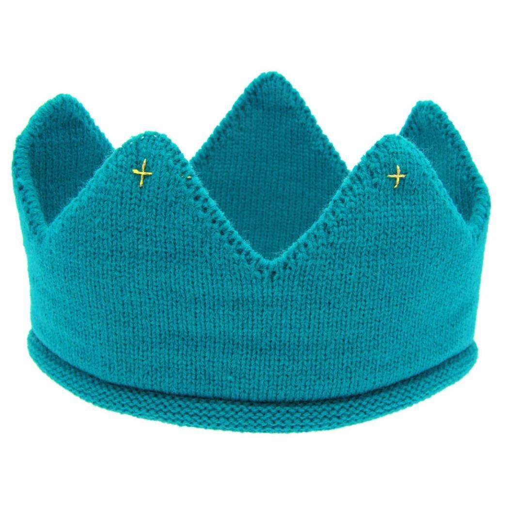 Hunpta Neue süße Baby jungen Mädchen Krone Strick Stirnband Hut