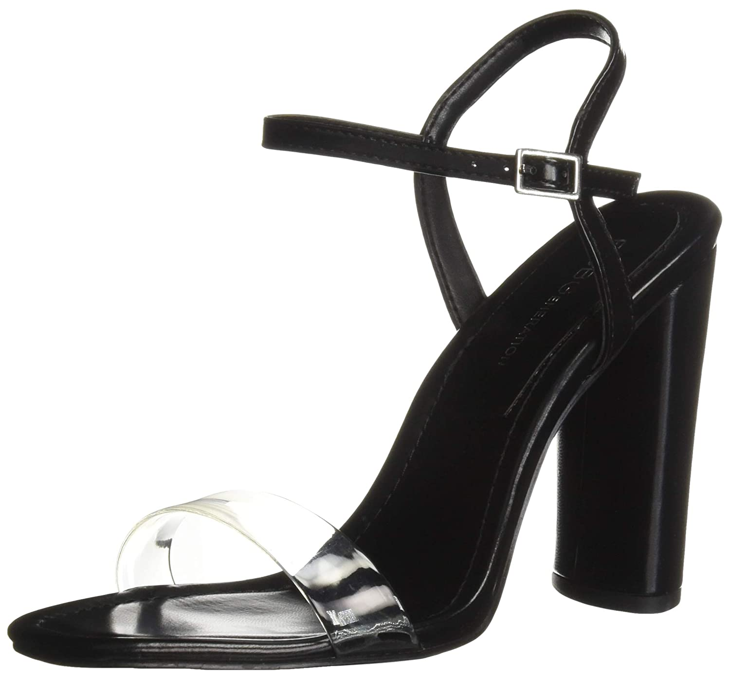 Black Clear BCBGeneration Womens Ilsie Dress Sandal Pump