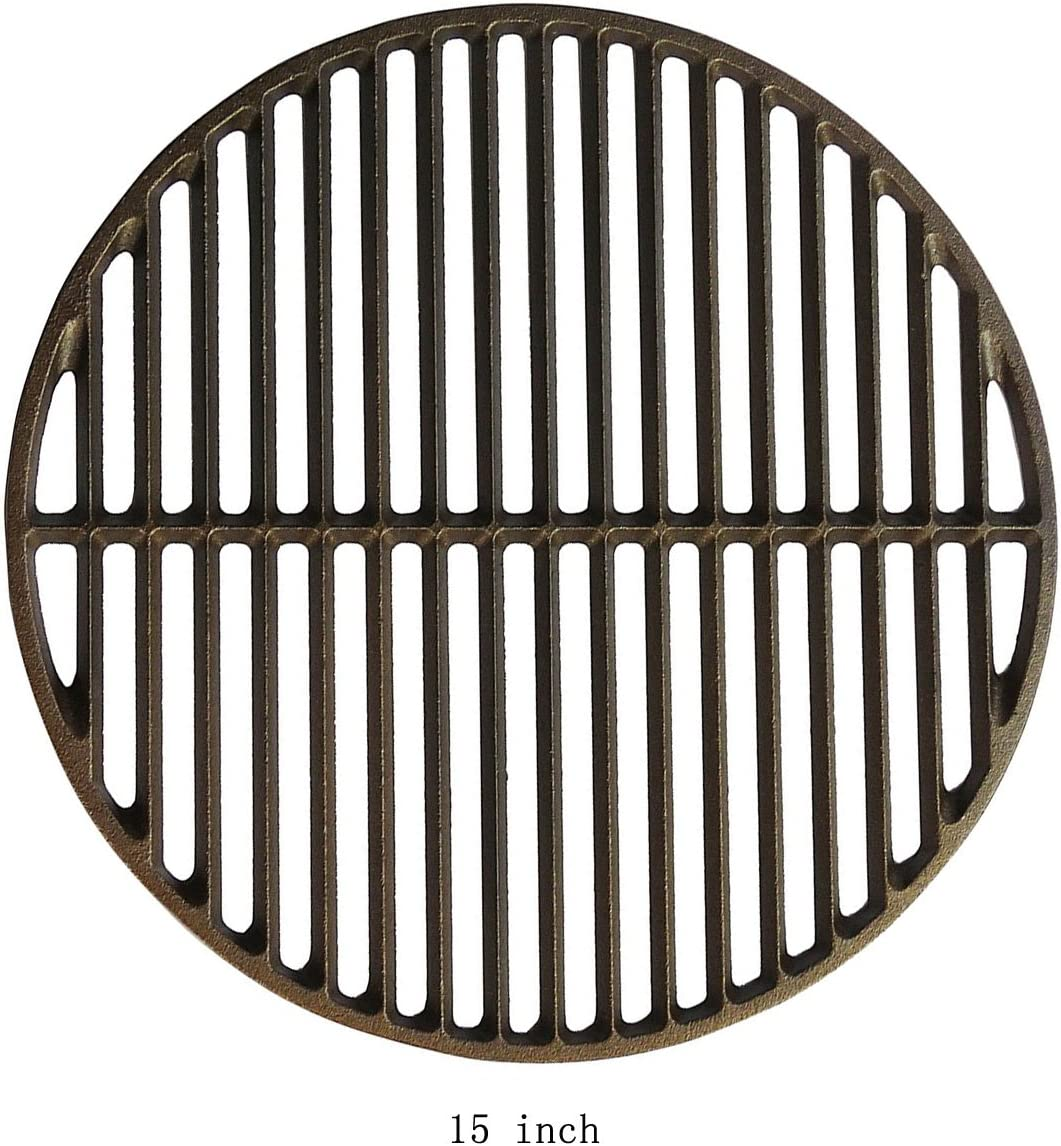 Amazon Com Dracarys 15 Cast Iron Grate Grids Sear Grate Fire Pit Round Cooking Grate Big Green Egg Accessories Fit For Medium Big Green Egg Grill Dome Char Griller Or Same Size Charcoal