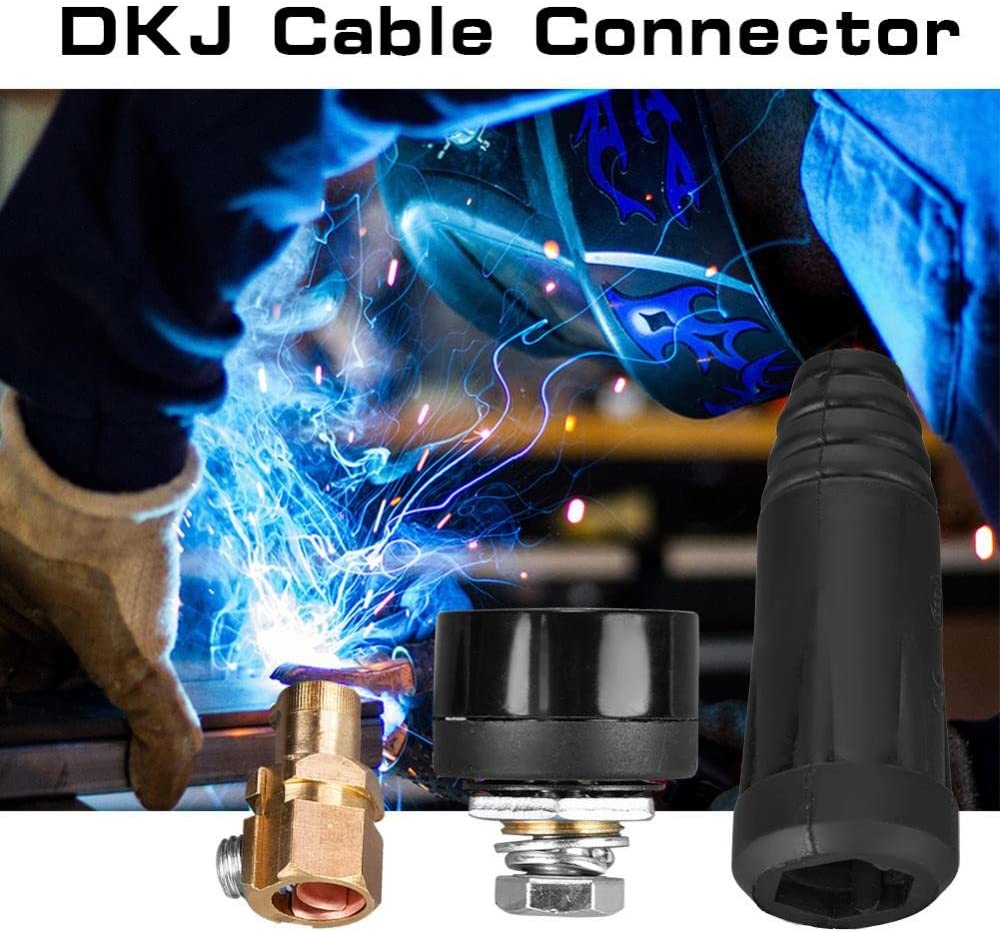 DKJ 35-50 Quick Connector Fitting Male Plug Durable Professional Welding Cable