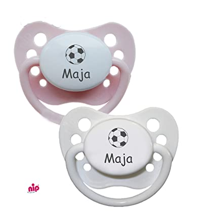 Chupete con nombres de fútbol (niña) - 2 Nombre Chupete en ...