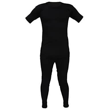 5d6addbd3 Kids Thermal Winter Warm Underwear Set Long John Bottom and Short Sleeve Top:  Amazon.co.uk: Clothing