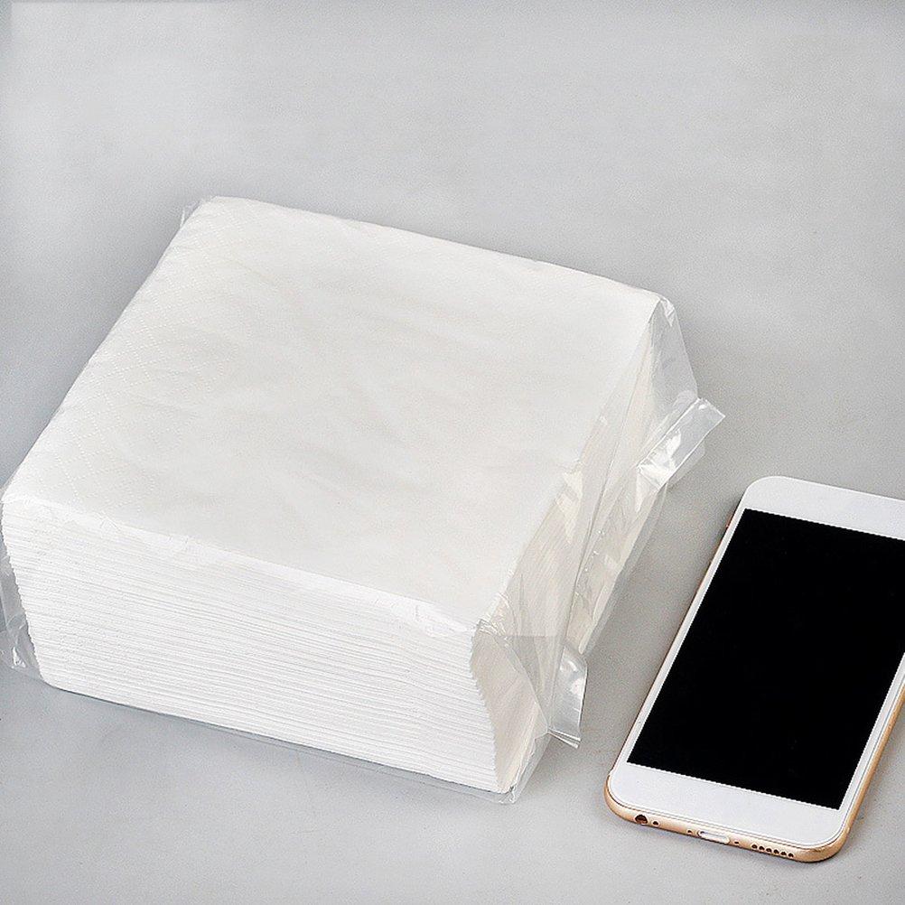 Bestonzon 100/pcs Boisson Serviettes en papier solide 2/plis d/îner Serviettes en papier