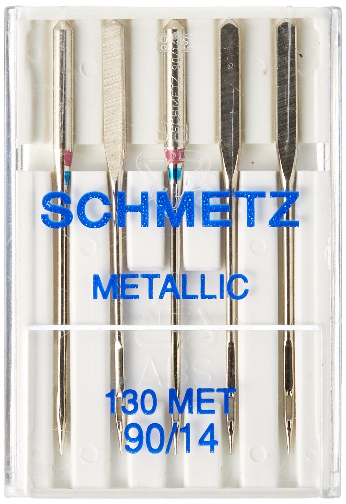 Euro-Notions Schmetz Metallic Machine Needle, Size 14/90 5/Pkg
