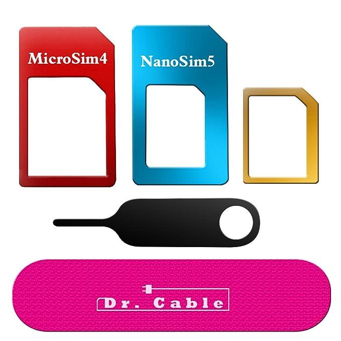 Adaptador de tarjeta SIM, Kit de ley 5 en 1 adaptador de ...
