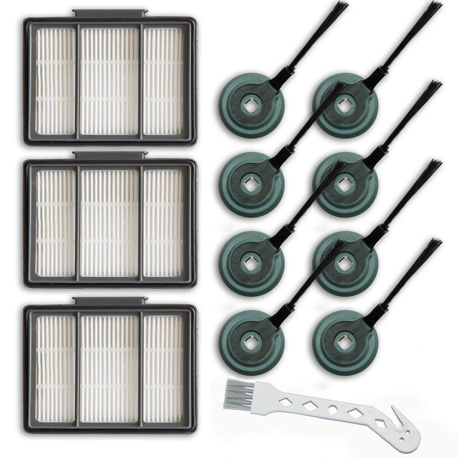 ION Robot Replacement Compatible for Shark S87 R85 RV850 Vacuum Cleaner(3 Filters & 8 Brushes) by SKROS