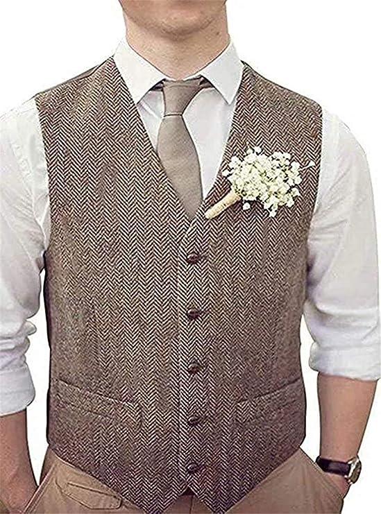 JYDX Men's Premium Wool Tuxedo Vest