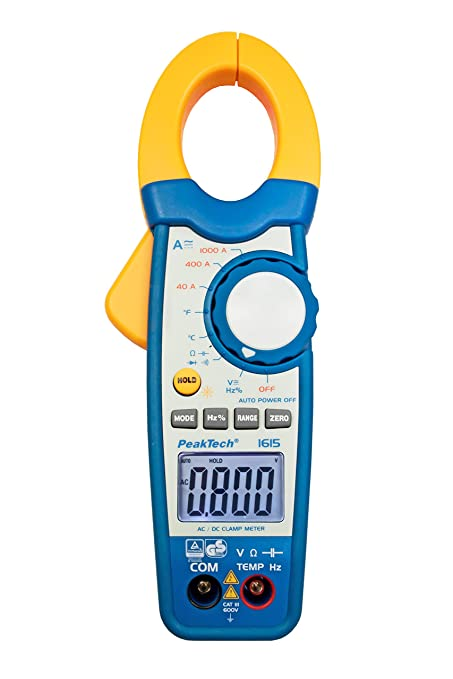 Peaktech 1615 Digital Clamp Meter 3 3 4 Digit 1000 A Ac Dc Business Industry Science