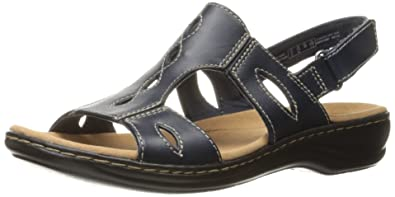 CLARKS Womens Flat Sandals Black 85 US  65 UK