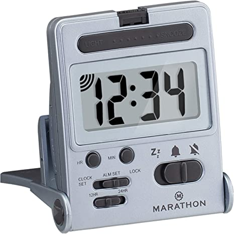 Marathon Basics Simple Travel Alarm Clock