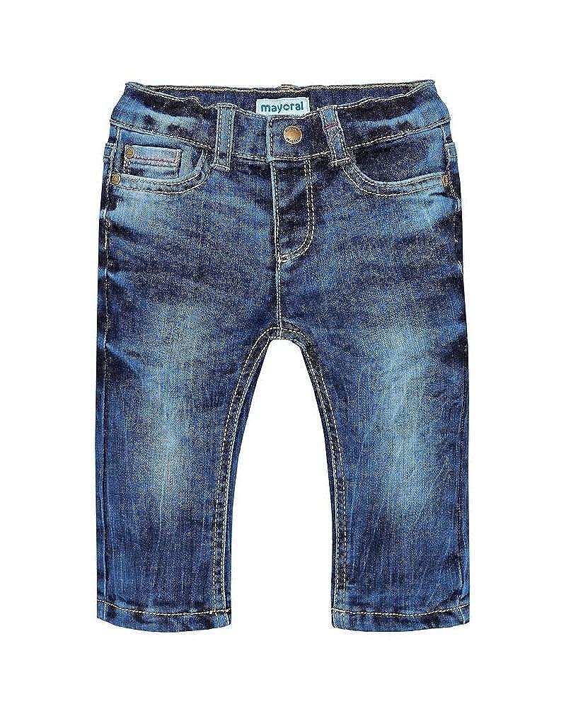 Mayoral Baby Jungen Thermo-Jeans Denim Hose Winter Gefüttert Regular Fit