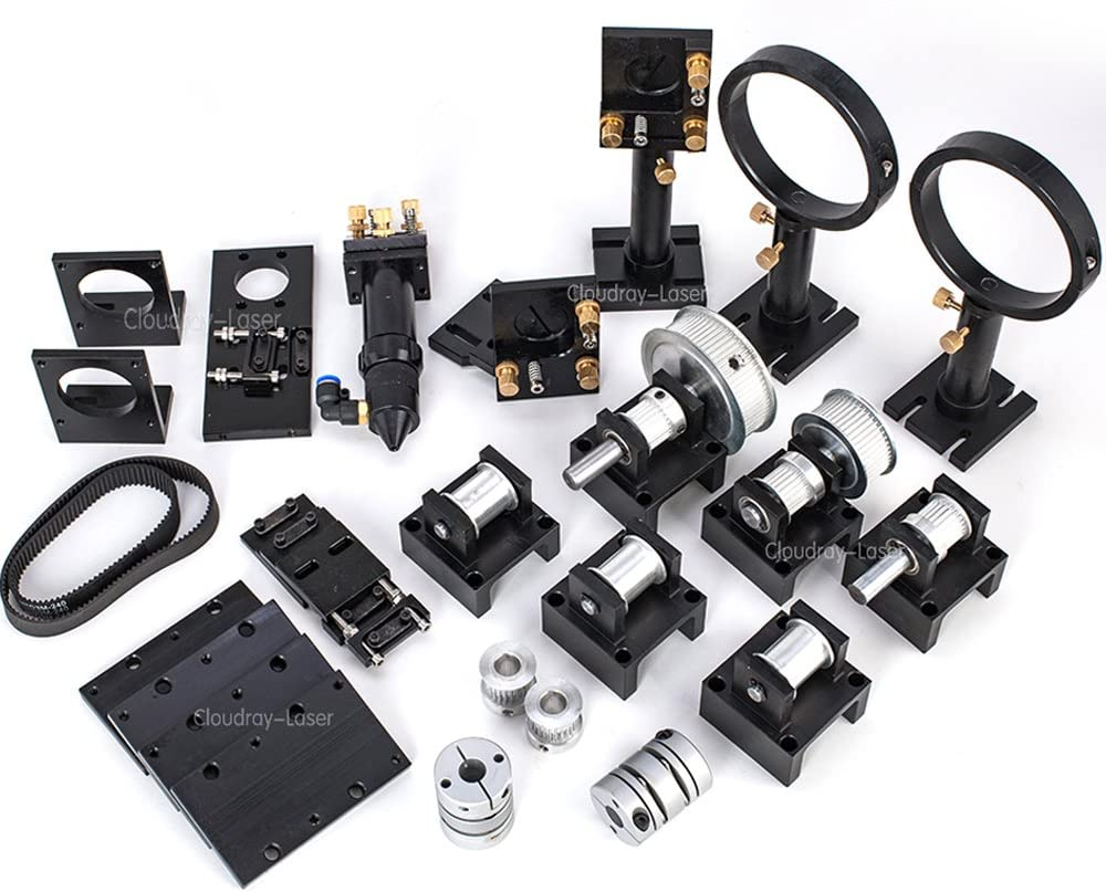 CO2, partes de metal láser, cabeza láser, componentes mecánicos, máquina de bricolaje 3523 pulgadas