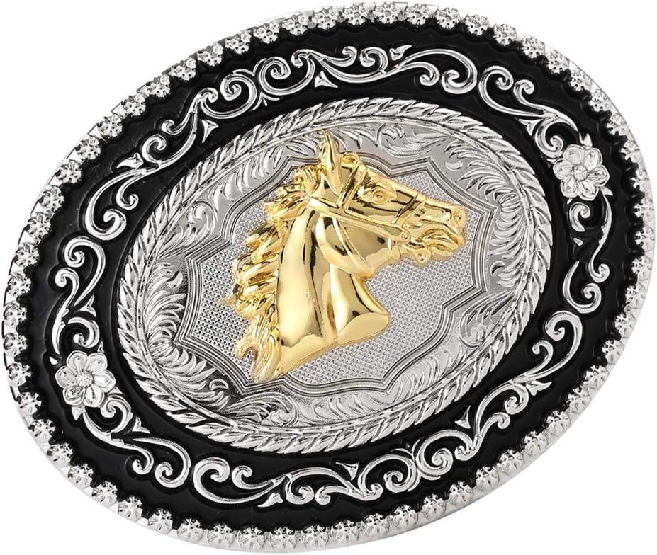 dailymall Hebilla de Cinturón de Vaquero Occidental Accesorios de Ropas para Hombres - Cabeza de Caballo
