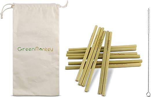 Pajita de bambú ecológica biodegradable reutilizable – alternativa ...